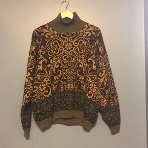 Sweaters - Vintage Nordic-style wool sweater